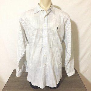 Ralph Lauren Men's Shirt Yarmouth White Blue Check